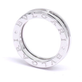 Bulgari B-Zero1 18K White Gold Ring Size 5.5