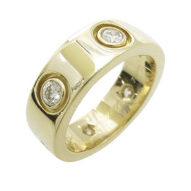 Cartier 750 Yellow Gold Full Diamond Love Ring Size 3.25