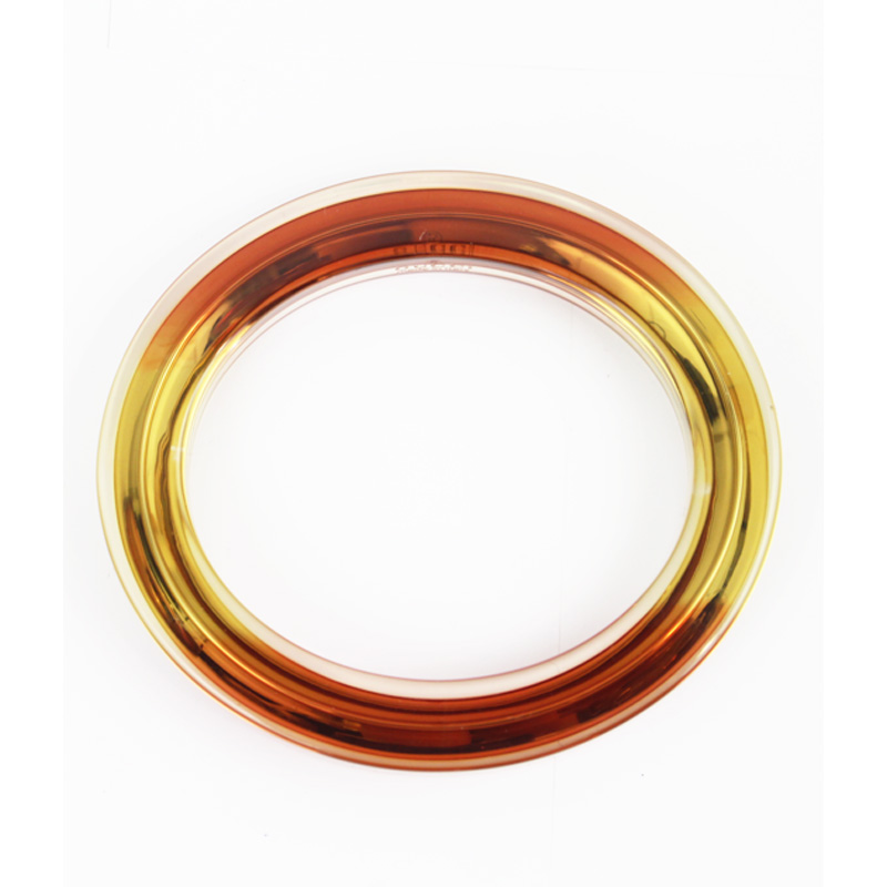 "Image of ""Gucci Yellow Metal and Orange Metal with Clear Plexiglass Overlay"""