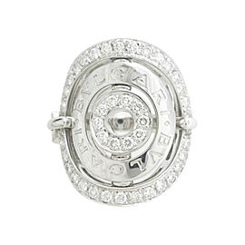 Bulgari 18K White Gold Diamond Asutorare Ring Size 6.25