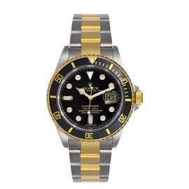 Rolex Submariner 16613 Two Tone Black Diamond Dial