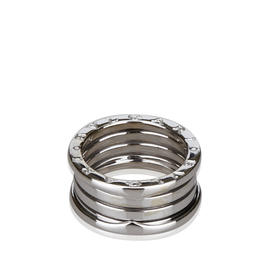Bulgari B. Zero 1 18K White Gold Band Ring Size 7