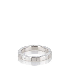 Cartier Lanieres White Gold Ring Size 8.0