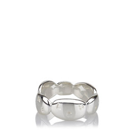 Chanel SV925 / Sterling Silver Pebble Ring Size 5.25