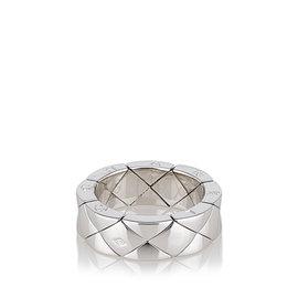Chanel White Gold Matelasse Ring