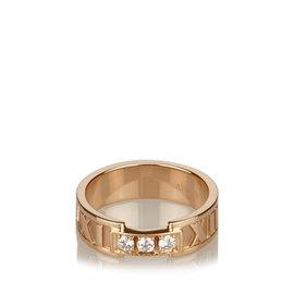 Tiffany & Co. 18K Yellow Gold Diamond Atlas Band Ring