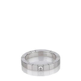 Cartier Lanieres White Gold Diamond Ring Size 6.25