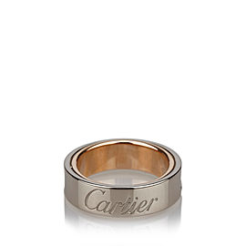 Cartier Love White & Rose Gold Ring Size 5.75