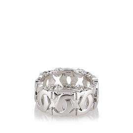 Cartier C De White Gold Ring Size 5.25