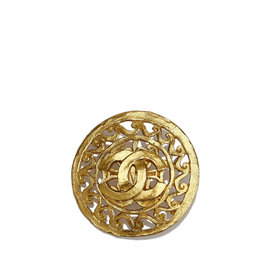 Chanel Gold-Tone CC Brooch