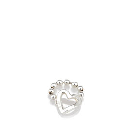 Gucci Sterling Silver Heart Cutout Ring
