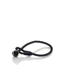 Bottega Veneta Leather & Silver-Tone Intrecciato Bracelet