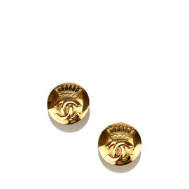 Chanel Gold-Tone Clip-On Earrings