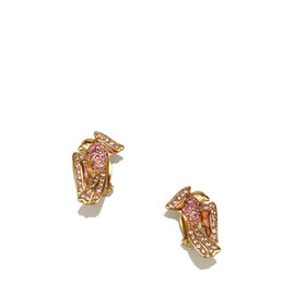 Givenchy Gold Tone Metal Studded Sparrow Clip-On Earrings