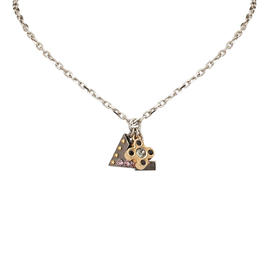 Louis Vuitton Brass LV Charm Necklace