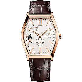 Vacheron Constantin Malte 7000M/000R-B109 18K Rose Gold & Leather with Silver Dial 36.70mm Mens Watch