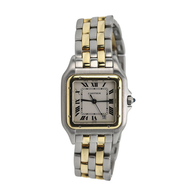 """Image of """"Cartier Panthere de Cartier 18K Yellow Gold & Stainless Steel 22mm"""""""