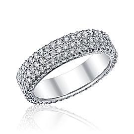 Michael B. Platinum 3 Row 1.75ct Diamond Ring Size 6