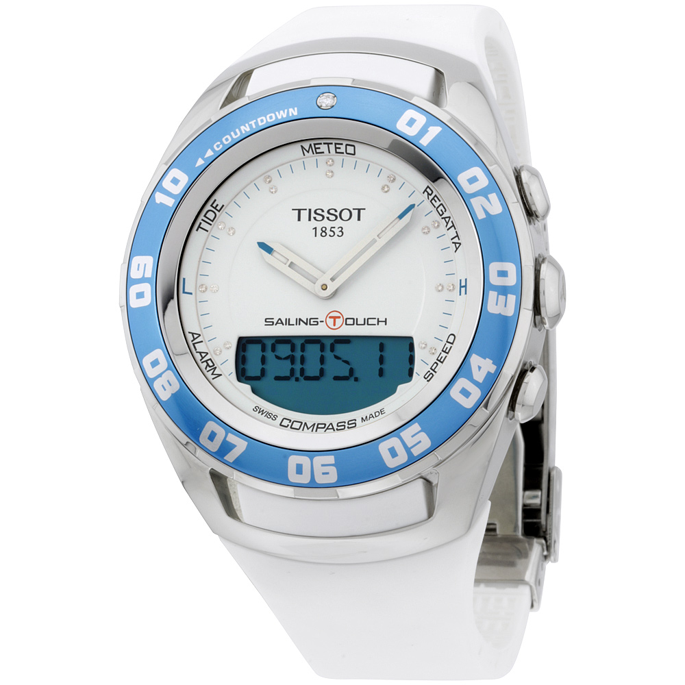 "Image of ""Tissot Sailing Touch T0564201701600 Stainless Steel & Rubber Quartz"""