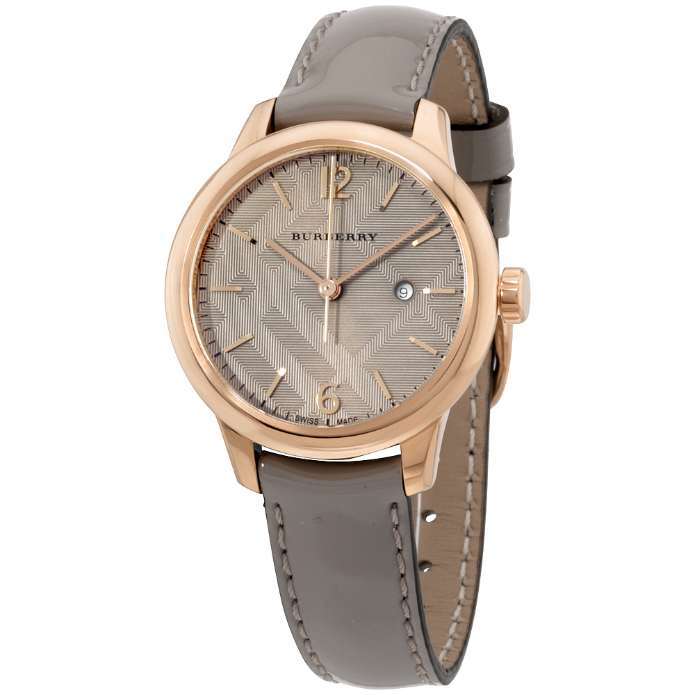 "Image of ""Burberry Bu10119 Rose Gold Tone Stainless Steel 32mm Womens Watch"""