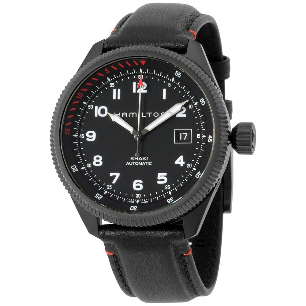 "Image of ""Hamilton Khaki Takeoff Air Zermatt H76695733 Stainless Steel Black"""