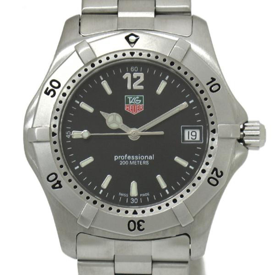"""Image of """"Tag Heuer Professional WK 1110-1 Stainless Steel 37mm Mens Watch"""""""