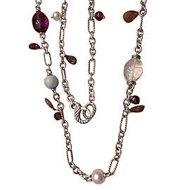 David Yurman Sterling Silver and Multi-Stone Bijoux 15mm Figaro Chain Necklace