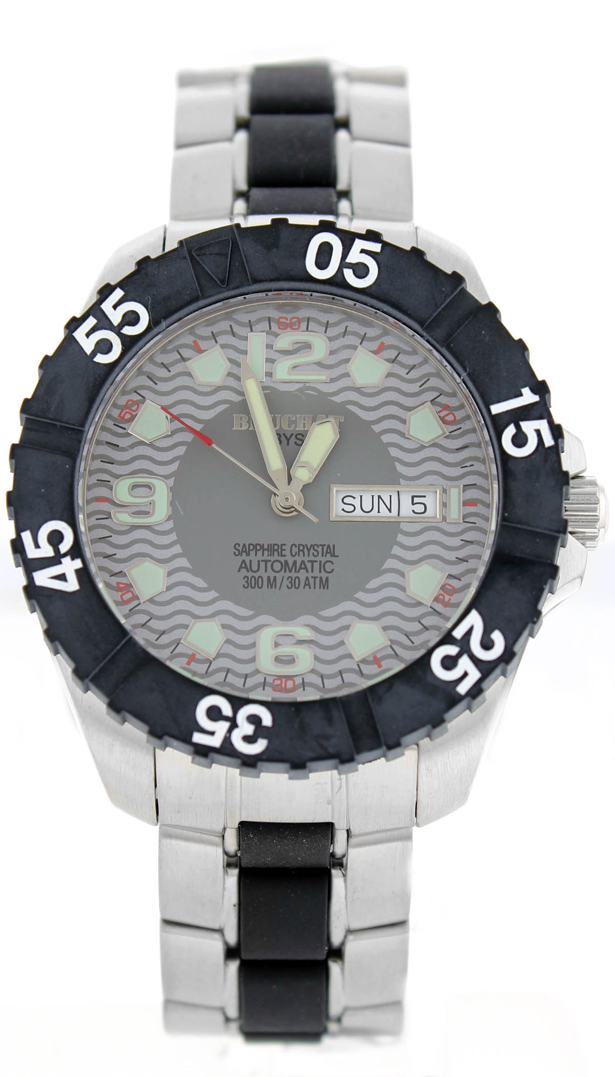 "Image of ""Beuchat Abyss Beu151 Stainless Steel With Gray Dial 42mm Mens Watch"""