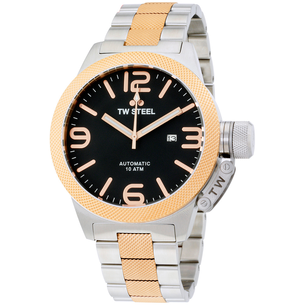 "Image of ""TW Steel Canteen Cb136 Two-Tone Stainless Steel and Gold Tone"""