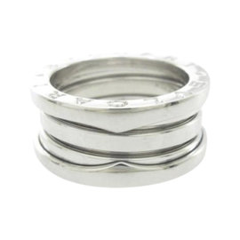 Bulgari B. Zero 1 18K White Gold Band Ring Size 5