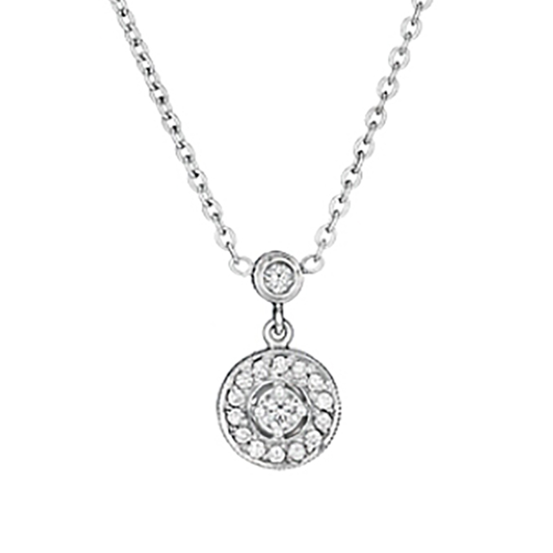 "Image of ""Penny Preville 18K White Gold Diamond Pendant Necklace"""