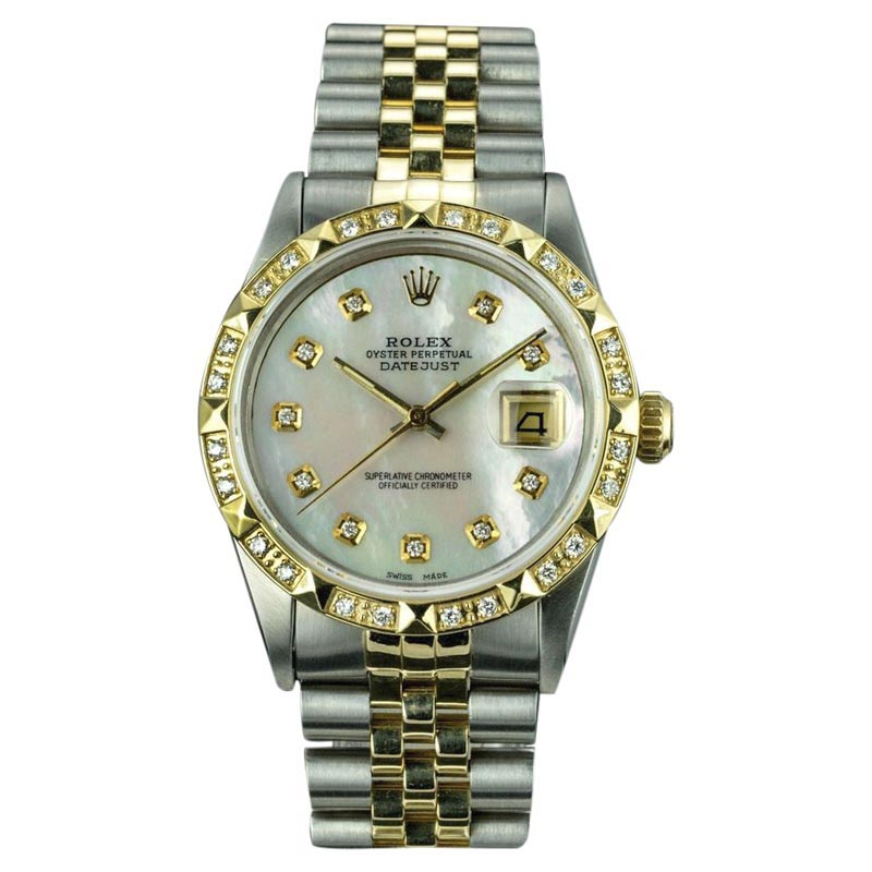 """Image of """"Rolex Datejust 16013 18K Yellow Gold and Stainless Steel Vintage 36mm"""""""