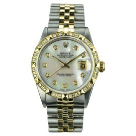 Rolex Datejust 16013 18K Yellow Gold and Stainless Steel Vintage 36mm Mens Watch
