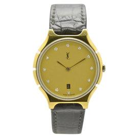 Yves Saint Laurent Date Two-Tone Quartz Womens Watch
