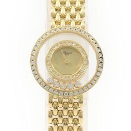 Chopard Happy Diamonds 205691-0001 Yellow Gold 23 mm Womens Watch