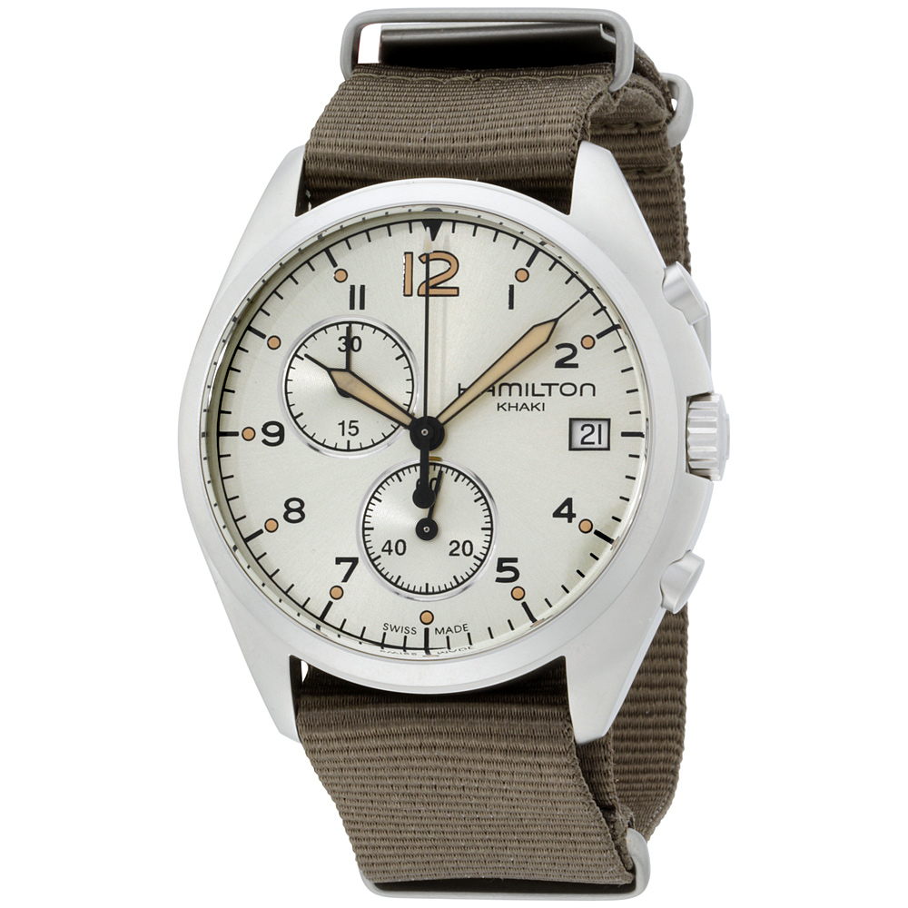 """Image of """"Hamilton Pilot Pioneer H76552955 Stainless Steel Chronograph 41mm Mens"""""""