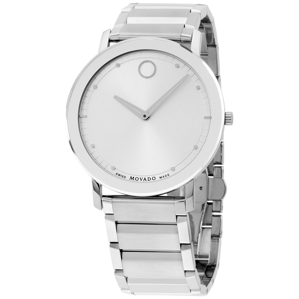 """Image of """"Movado 606881 Stainless Steel Quartz Thin Sapphire 40mm Mens Watch"""""""