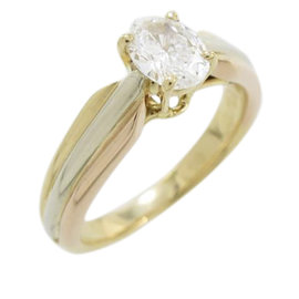 Cartier 18K Yellow White and Rose Gold with 0.40ct. Diamond Ring Size 3.75