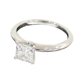 Tiffany & Co. Platinum 1.03 Ct Diamond Solitaire Ring Size 6