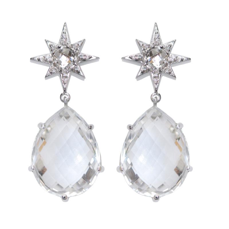 "Image of ""Anzie Clear Topaz Earrings"""