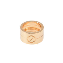 Cartier High Love 18K Rose Gold Ring Size 4.5