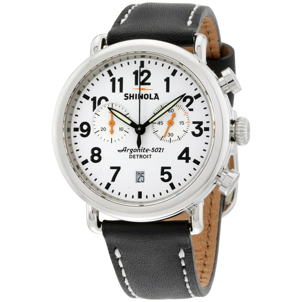 "Image of ""Shinola S0100098 Stainless Steel & Leather Quartz 41mm Mens Watch"""