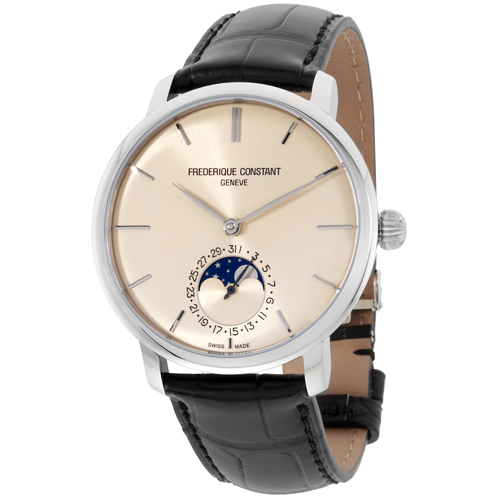 "Image of ""Frederique Constant 705Bg4S6 Slimline Stainless Steel Ivory Dial 42mm"""