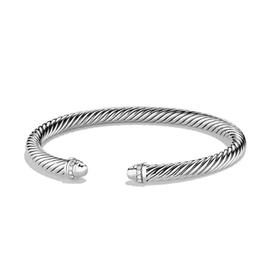 David Yurman Cable Classics Sterling Silver 0.07 Ct Diamond Bracelet