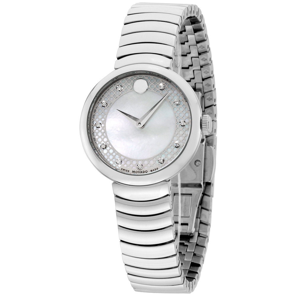 "Image of ""Movado 0607044 Stainless Steel Quartz 28mm Womens Watch"""