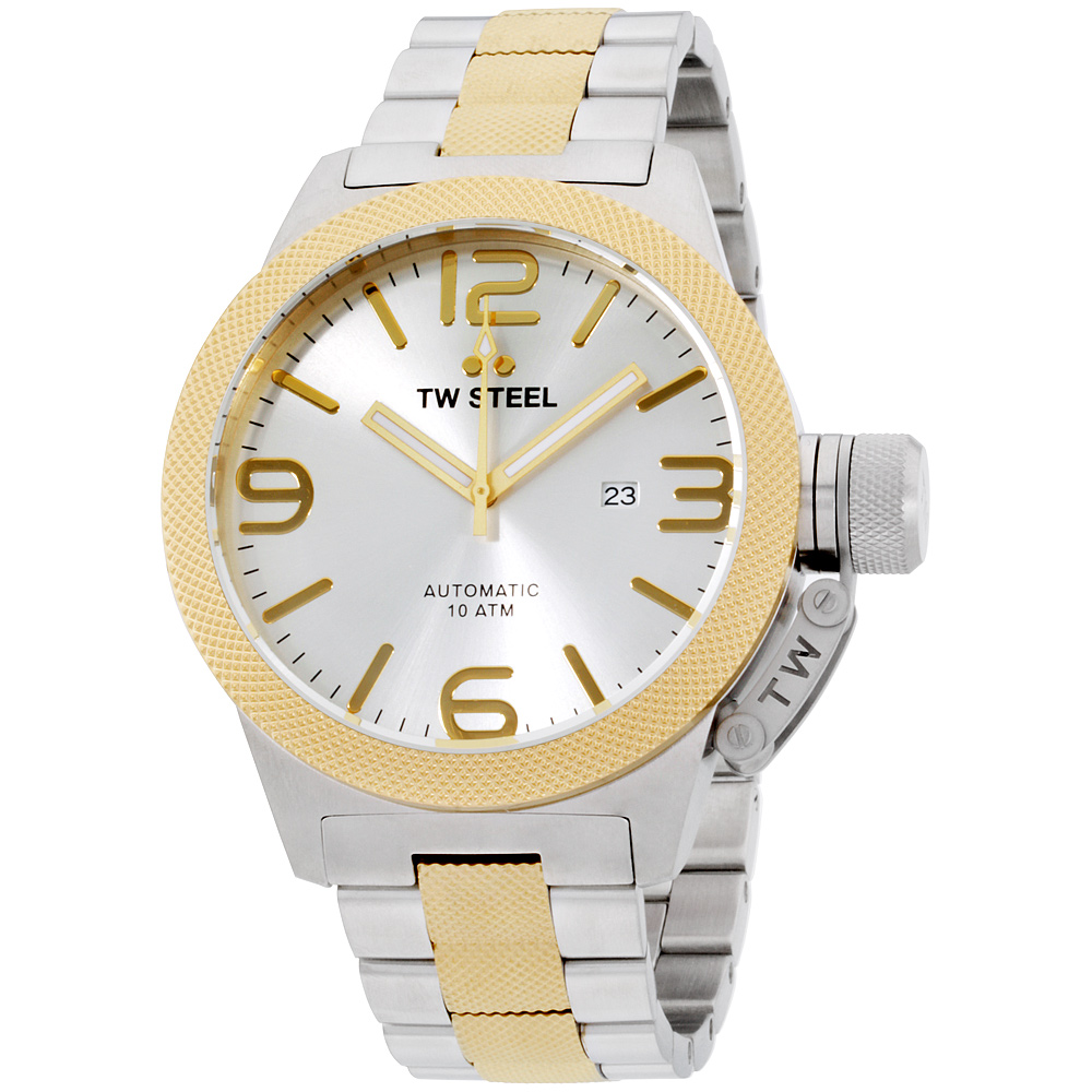 "Image of ""TW Steel Cb36 Two Tone Stainless Steel and Yellow Gold Plated Analog"""