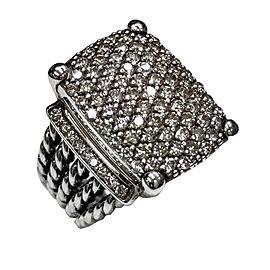 David Yurman 925 Sterling Silver with 2.44ct Diamond Ring Size 7