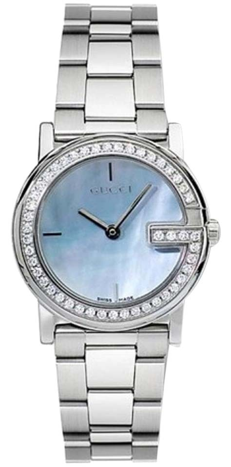 """Image of """"Gucci Ya101514 Stainless Steel Blue Mother of Pearl Dial 28mm Womens"""""""