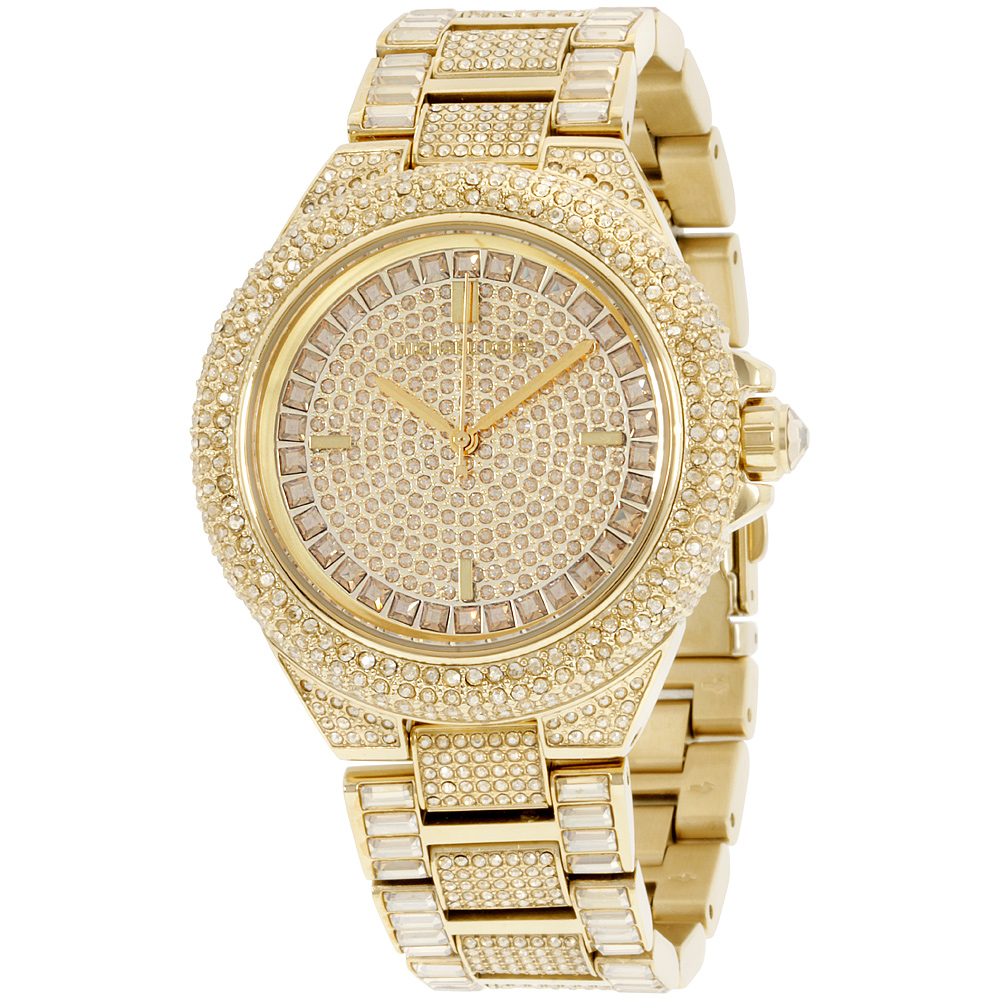 "Image of ""Michael Kors Camille Mk5720 Crystal Covered Gold Tone Stainless Steel"""