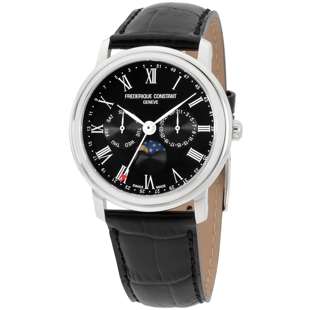 "Image of ""Frederique Constant Classic Fc270Br4P6 Stainless Steel Black Dial 40mm"""